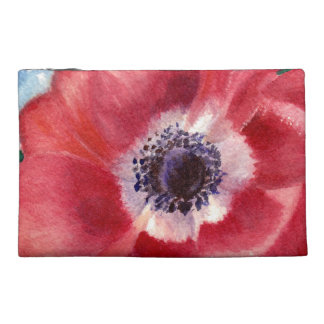Red Poppy Travel Accessories Bag