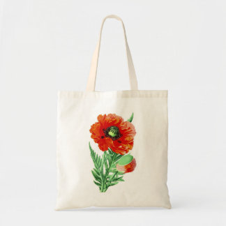 Red Poppy Tote Bags