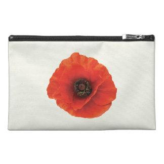 Red Poppy Travel Accessory Bag
