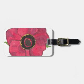 Red Poppy Bag Tag