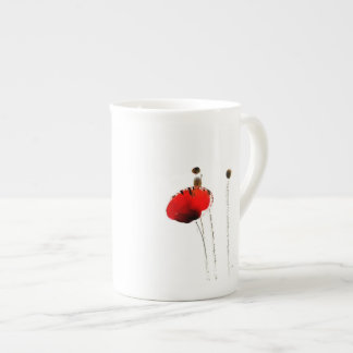 red poppy bone china espresso cup