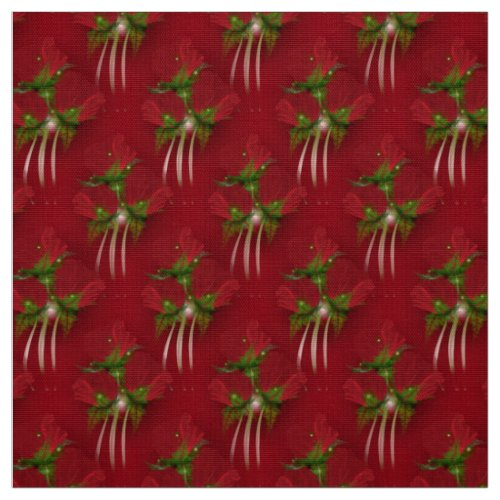 Red Poppy Bouquets Fabric