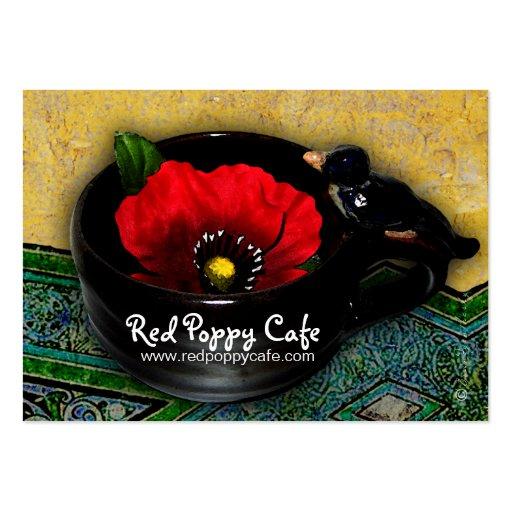Red Poppy Cafe Custom Business Card