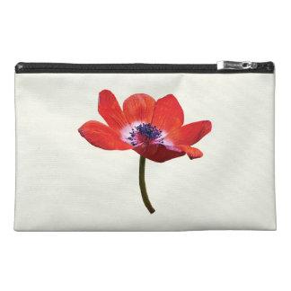 Red Poppy Closeup Travel Accessory Bag