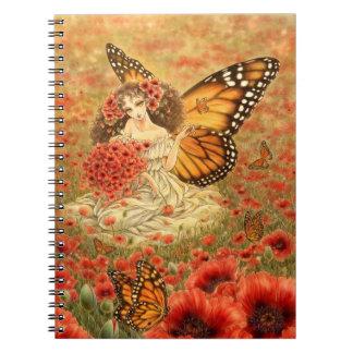 Red Poppy Fantasy Notebook