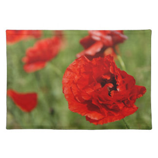 Red Poppy Field American MoJo Placemat