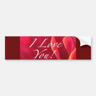 Red Poppy Flower Love Greetings Bumper Sticker