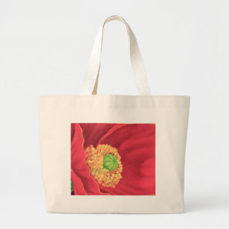 Red Poppy Flower Painting Art - Multi Canvas Bags