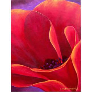 Red Poppy Flower Painting - Multi Cutout