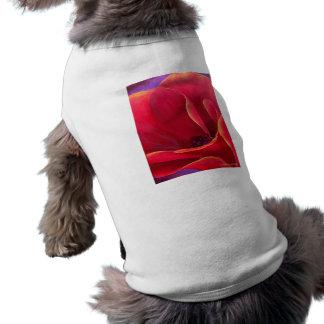 Red Poppy Flower Painting - Multi Pet Tshirt