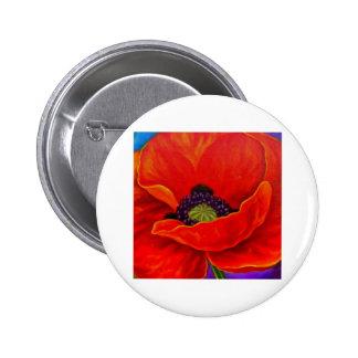Red Poppy Flower Painting - Multi Pin