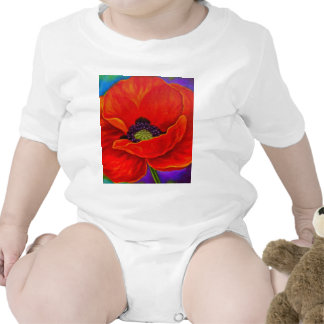 Red Poppy Flower Painting - Multi T Shirts