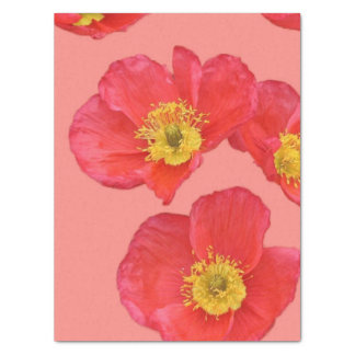 "Red Poppy Flowers 15"" X 20"" Tissue Paper"