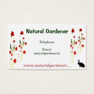 Red Poppy Flowers Business Card