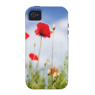 Red Poppy Flowers Case For The iPhone 4