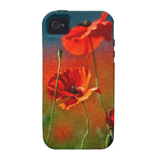 Red Poppy Flowers iPhone 4 Covers