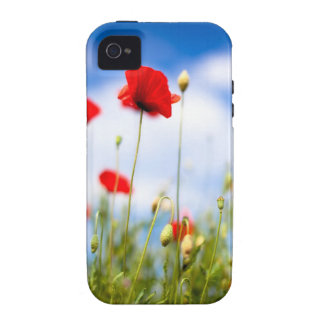 Red Poppy Flowers iPhone 4/4S Case