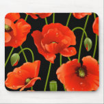 """Red Poppy Flowers Mouse Pad<br><div class=""""desc"""">Pretty Red and Orange California Poppy flowers</div>"""
