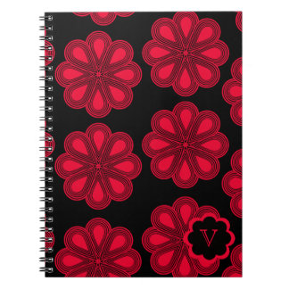 Red Poppy Flowers Note Book
