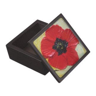 Red Poppy Gift Box Premium Jewelry Box