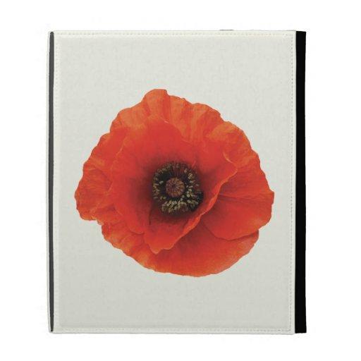 Red Poppy iPad Folio Case