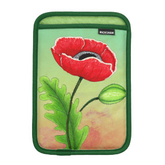 Red Poppy, iPad Mini Sleeve