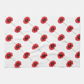 Red Poppy Kitchen towel