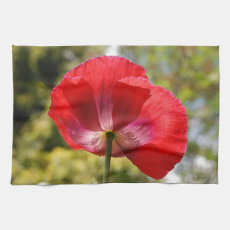 Red poppy towels