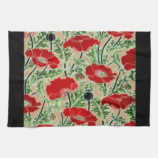 Red Poppy Hand Towels