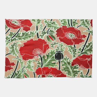 Red Poppy Towel