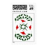 Red Poppy Laurel stamp Postage Stamps
