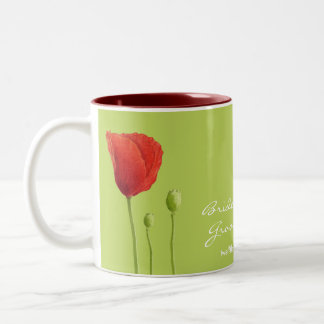 Red Poppy lime Wedding Mug