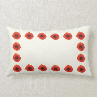 Red Poppy Lumbar Pillow