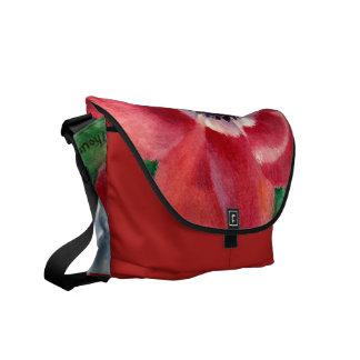 Red Poppy Messenger Bag