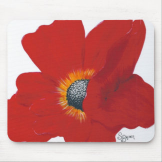 Red Poppy Mouse Pad