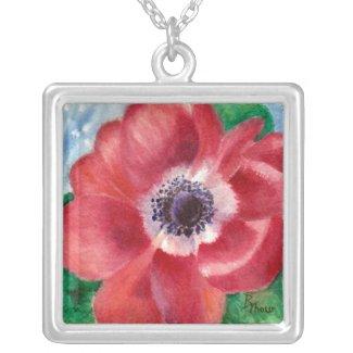 Red Poppy Necklace necklace