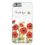 Red Poppy Patch with Bee iPhone 6 Case