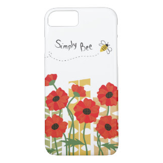 Red Poppy Patch with Bee iPhone 7 Case