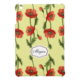 Red poppy pattern case for the iPad mini