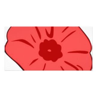 Red Poppy Customized Photo Card