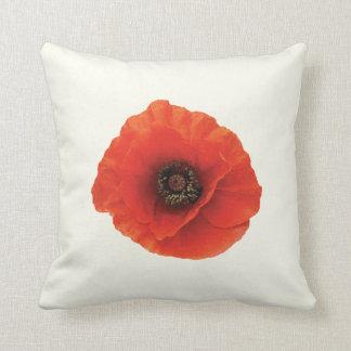 Red Poppy Throw Pillows