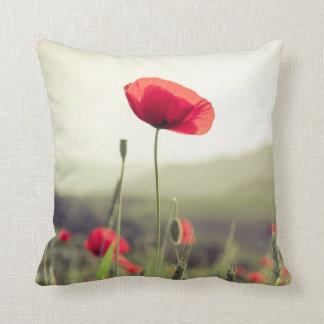 Red poppy pillow