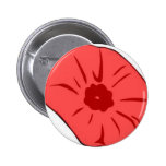 Red Poppy Pinback Button