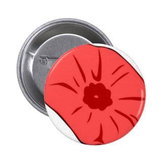 Red Poppy Pinback Button