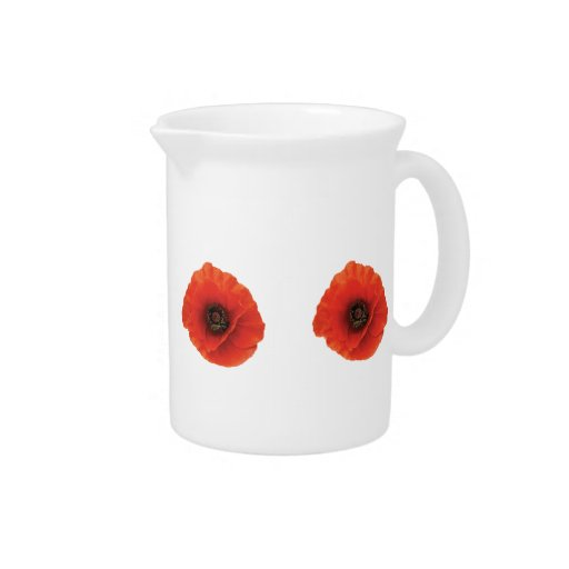 Red Poppy Pitcher