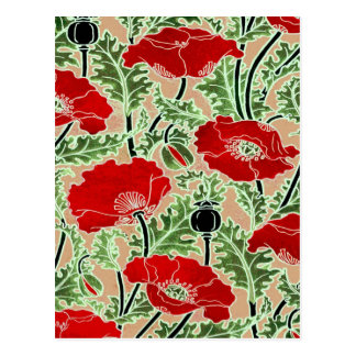 Red Poppy Postcard