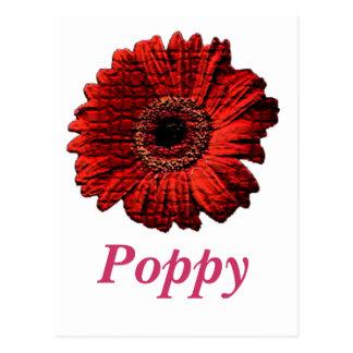 Red Poppy Postcard Design