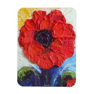 Red Poppy Premium Magnet