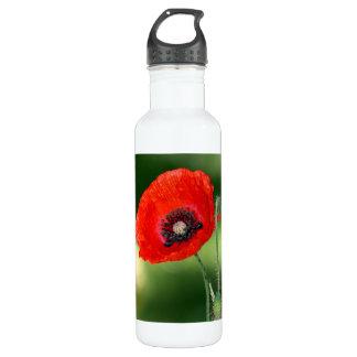 Red Poppy Seed Aluminum 24oz 24oz Water Bottle