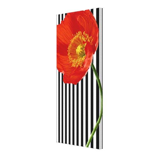 Red Poppy Simplicity Canvas Print